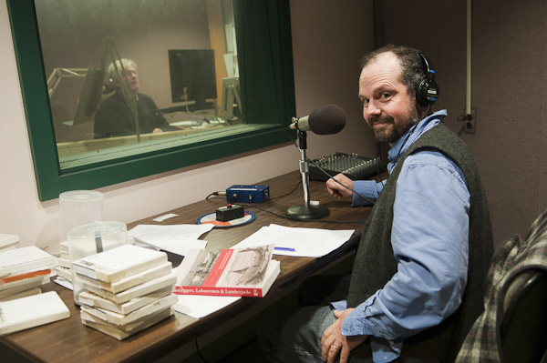 Matthew P. Mayo at Maine Public Broadcasting Studio in Bangor, ME