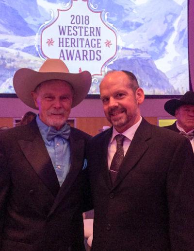 Matthew with legendary Buck Taylor!
