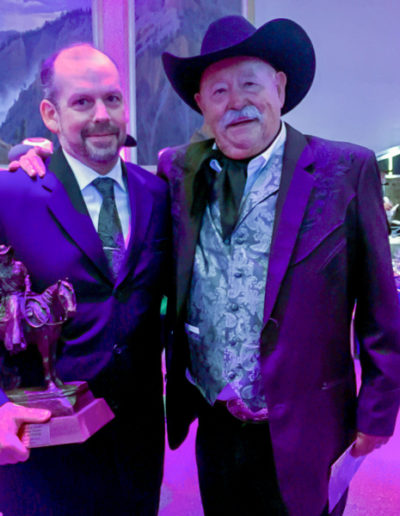 Matthew with Barry Corbin, freshly inducted into the Hall of Great Western Performers.